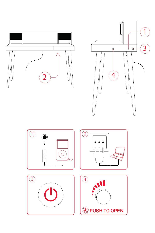 bardino bureau miniforms en bois sediarreda. Black Bedroom Furniture Sets. Home Design Ideas