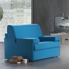 Gelsomino-P - Poltrona letto, diversi rivestimenti e colori disponibili