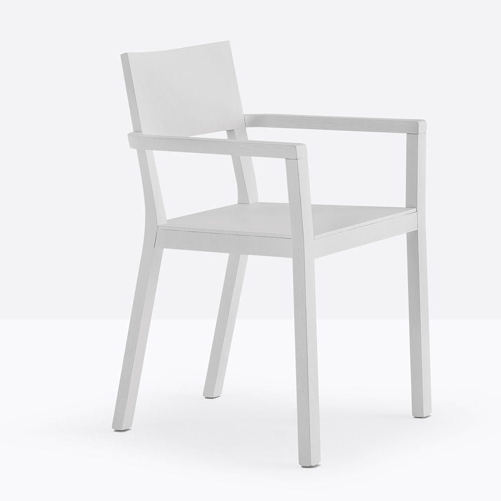 feel 450 2 designer stuhl pedrali mit armlehnen aus massivem eichenholz sediarreda. Black Bedroom Furniture Sets. Home Design Ideas