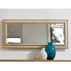 Altair 4961 - Specchio rettangolare Tonin Casa con cornice classica in legno, diverse finiture disponibili