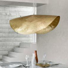 Brass - Lampada a sospensione Gervasoni, in ottone opaco martellato, diverse misure disponibili