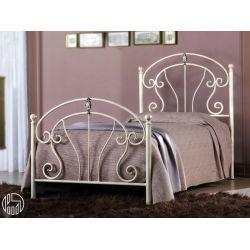 Mistral s letto singolo in ferro battuto con fregi in - Letto singolo in ferro battuto bianco ...