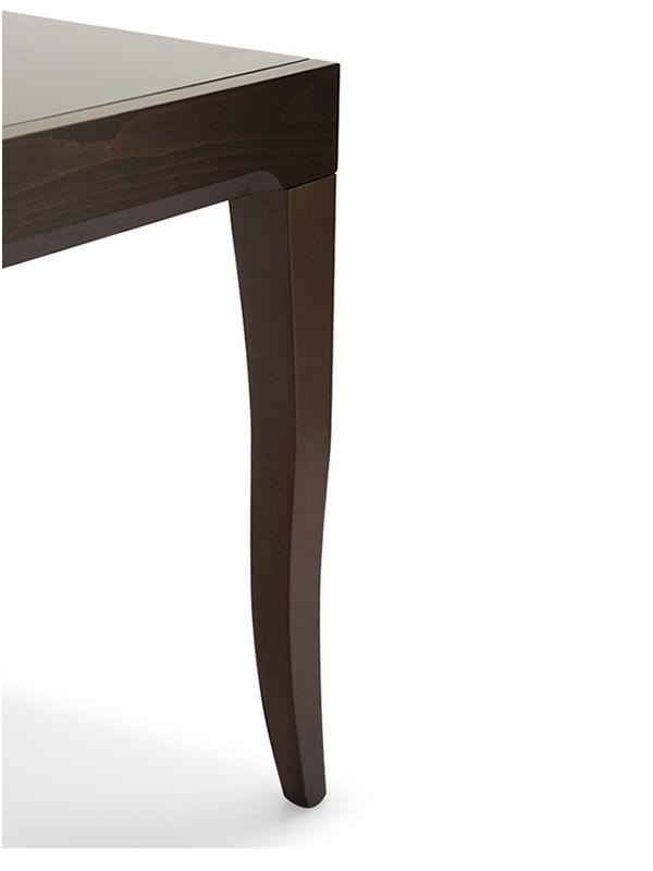 729 verl ngerbarer holztisch mit glasplatte 130 x 90 cm sediarreda. Black Bedroom Furniture Sets. Home Design Ideas