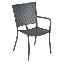 Athena 3413 - Emu armchair made of metal, for garden, stackable, in several colours