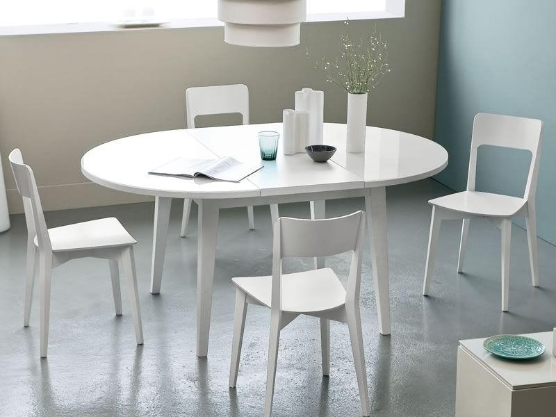 4717 mesa redonda extensible tapa de cristal se di metro - Mesa de cocina redonda extensible ...