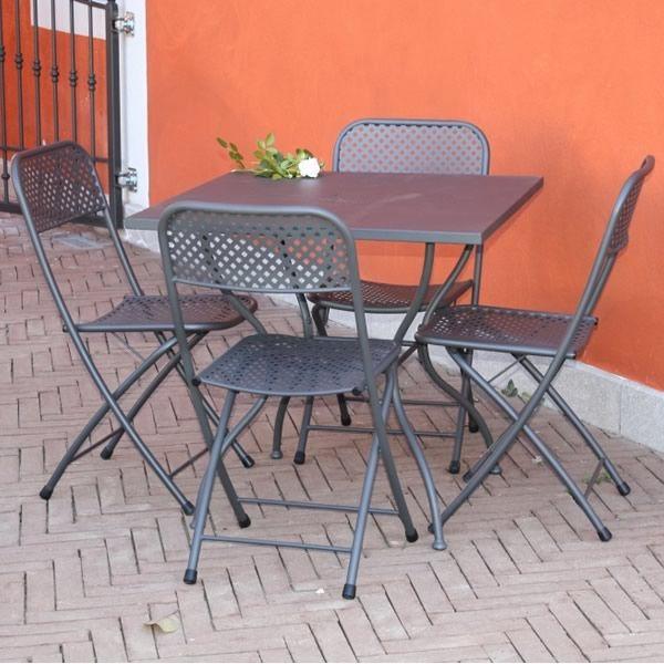 zeus klapptisch aus stahl f r den au enbereich 70x70 cm sediarreda. Black Bedroom Furniture Sets. Home Design Ideas