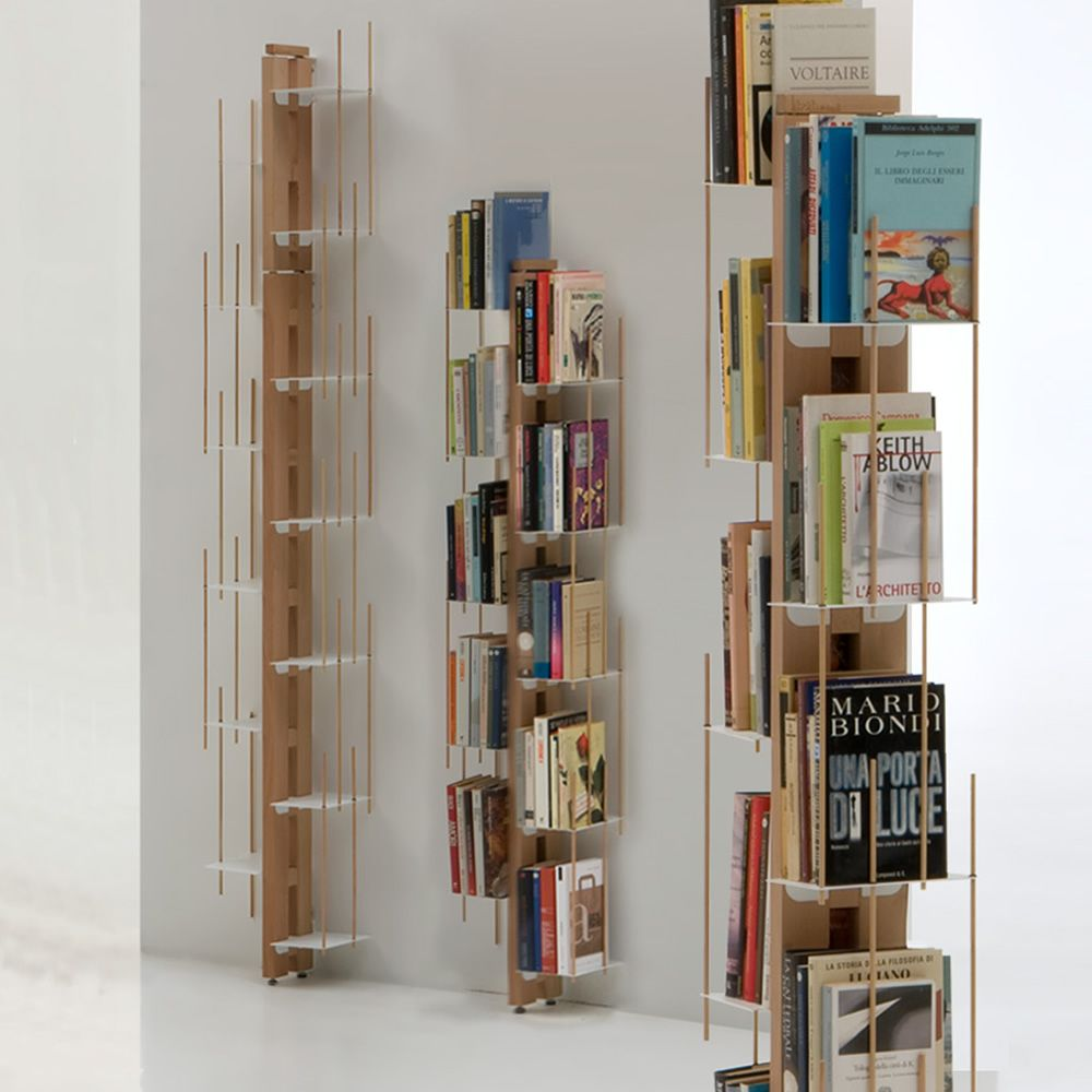 Zia veronica p design ground bookcase fixed to the wall for Librerie design outlet