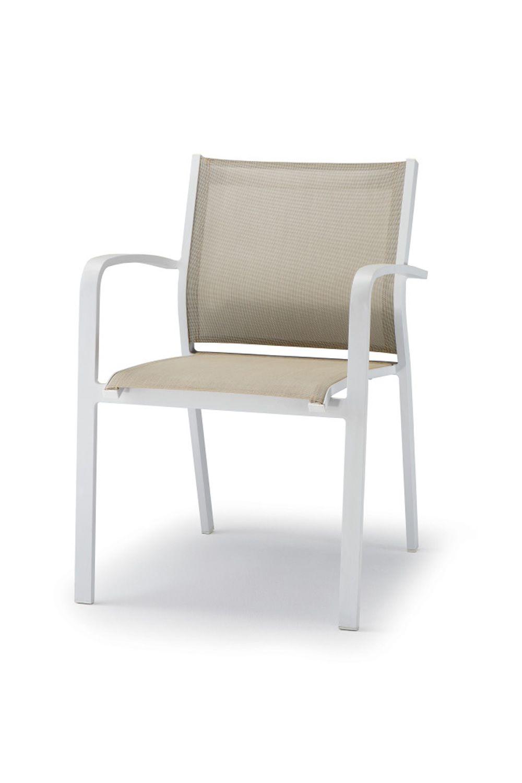 tt936 chaise avec accoudoirs en aluminium et textil ne. Black Bedroom Furniture Sets. Home Design Ideas