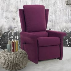 Angelica - Electric and adjustable relax armchair, different upholsteries and colours available, totally removable covering, also with Roller system and massage kit