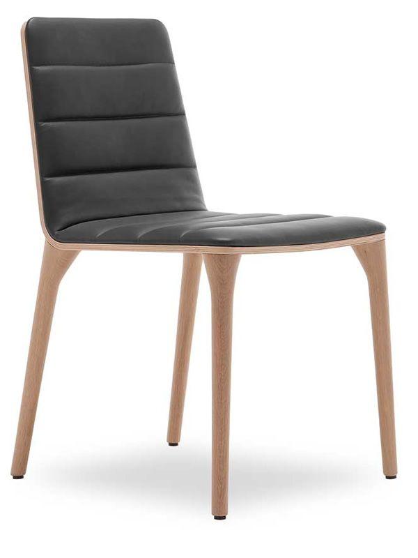Pit w design stuhl von tonon gepolstertes holz for Design stuhl leder holz