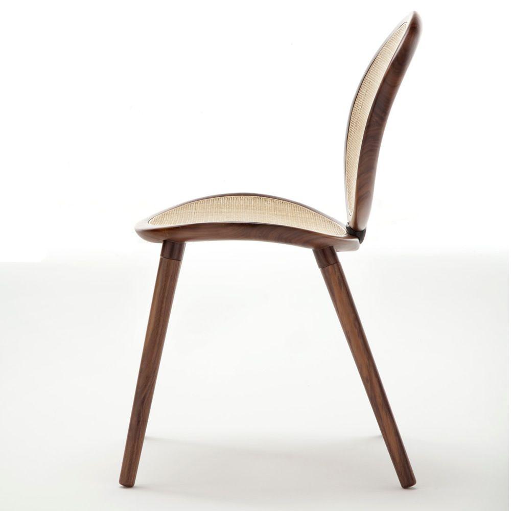 Jonathan 2013 Wood - Chaise design Tonon, en bois et canne naturelle ...