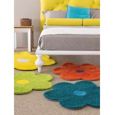 Daisy - Coloured rug in the shape of a flower - different colours