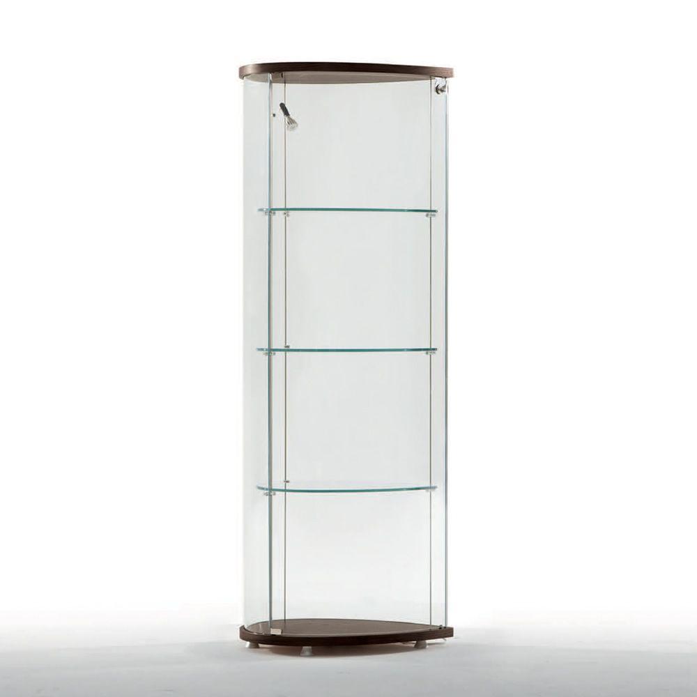 Olivella 6427 vitrine tonin casa en bois et verre en for Vitrine en verre et bois