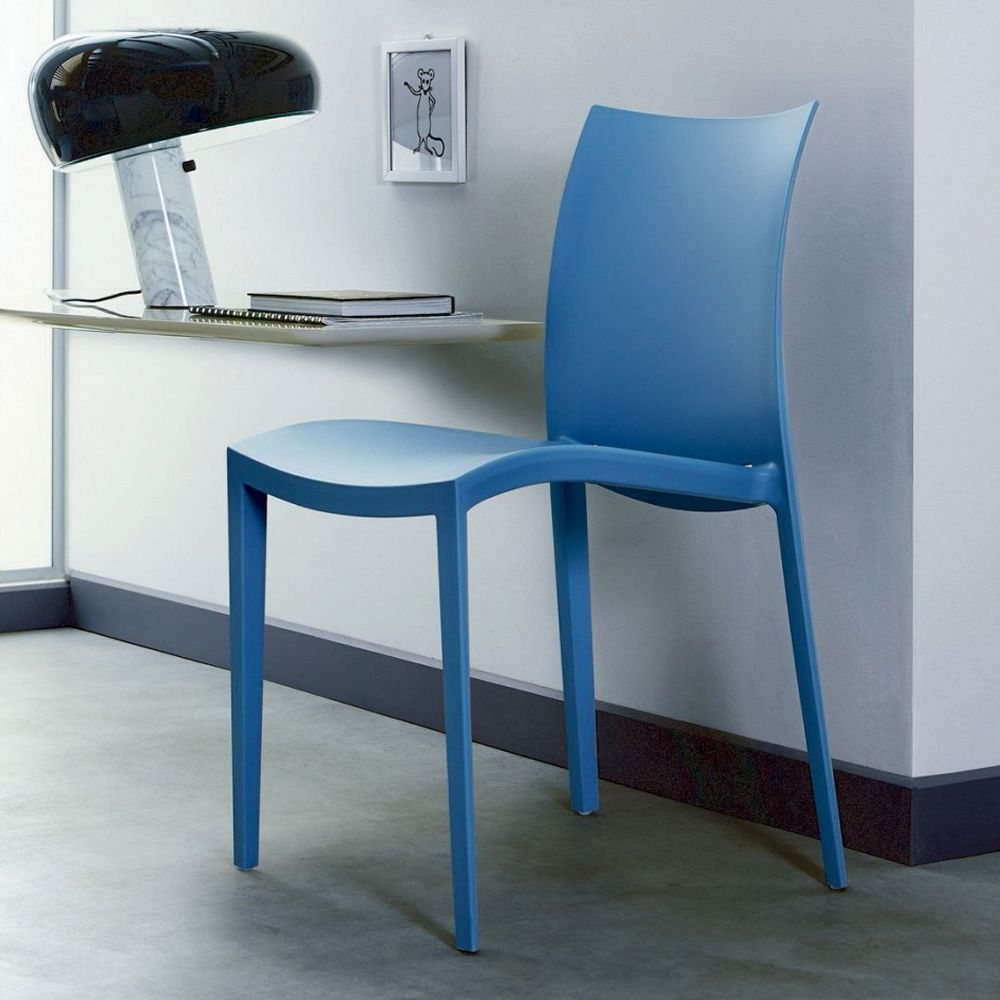 Go sedia moderna di colico in polipropilene di vari colori impilabile anche per esterno - Sedia polipropilene impilabile ...
