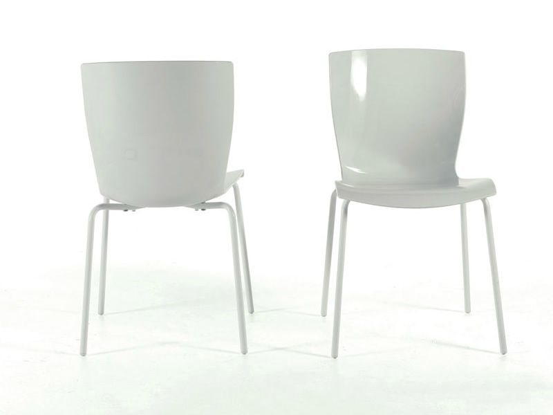 Rap sedia colico in acciaio seduta in polipropilene for Sedie bianche design