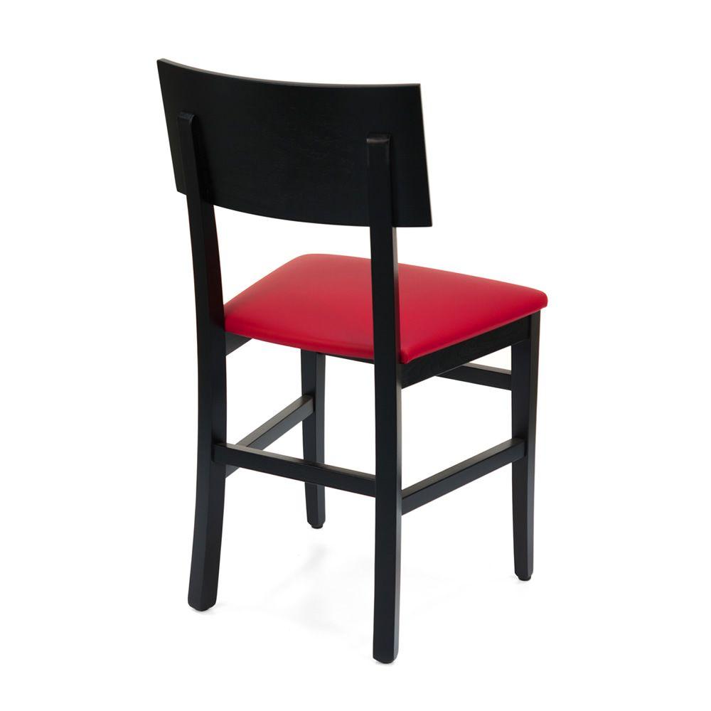 Mu212 f sedia in legno con seduta imbottita in for Sedie in similpelle