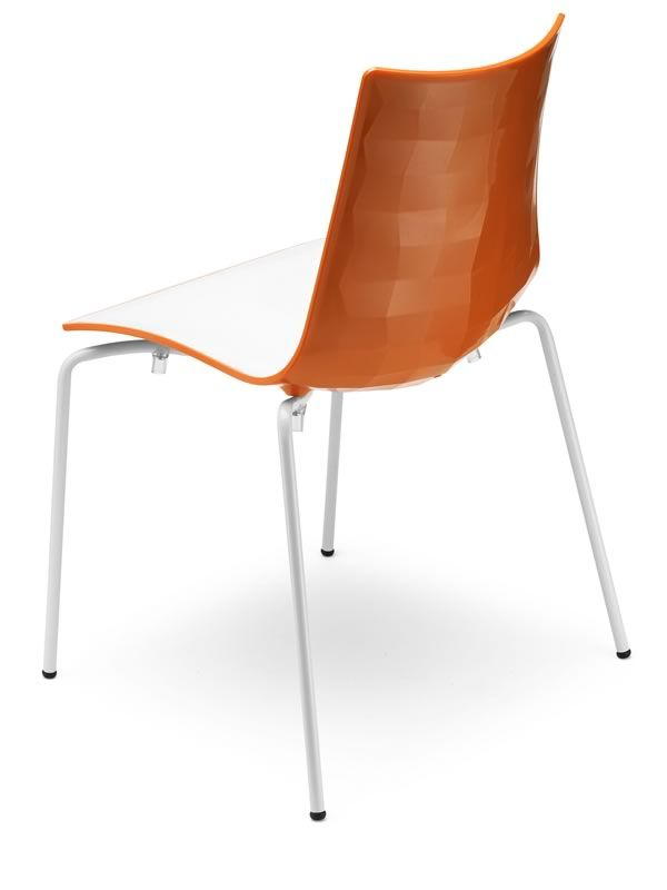 Zebra bicolour 2272 stapelbarer zweifarbige stuhl aus for Design stuhl orange