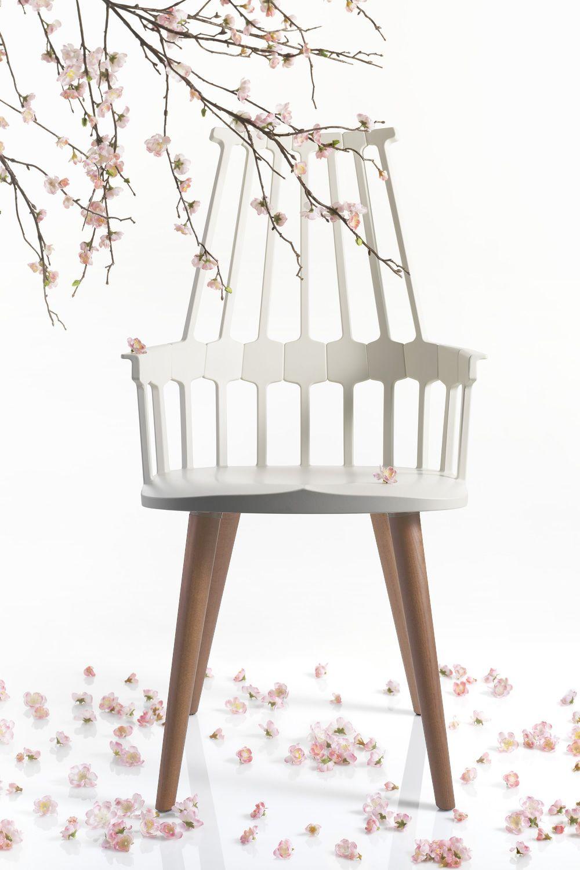 Comback 5954 sedia kartell di design in legno e - Sedia di design ...