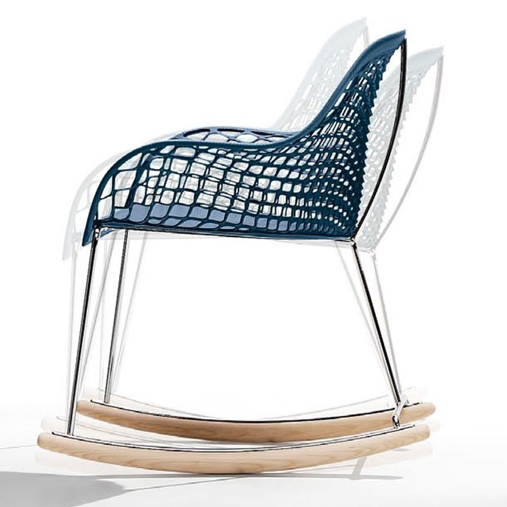 guapa dnb schaukelsessel midj aus metall und leder sediarreda. Black Bedroom Furniture Sets. Home Design Ideas