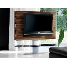 Cortes 7095 - Tonin Casa TV stand made of wood and metal with glass shelf, different finishes and sizes available
