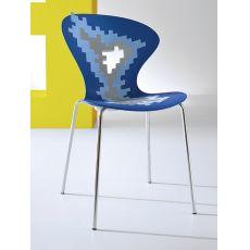 Big Bang - Sedia di design in metallo e tecnopolimero, impilabile, diversi colori disponibili, anche per esterno