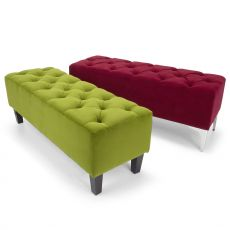 Megh - Domingo Salotti bench in classic style, upholtered in fabric, leather or imitation leather, different colors