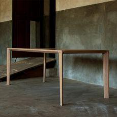 Raia - Tavolo di design in legno, rettangolare, fisso, disponibile in diverse dimensioni