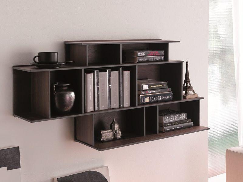 Demie biblioth que murale modulaire en bois disponible en diff rentes coule - Bibliotheque murale contemporaine ...