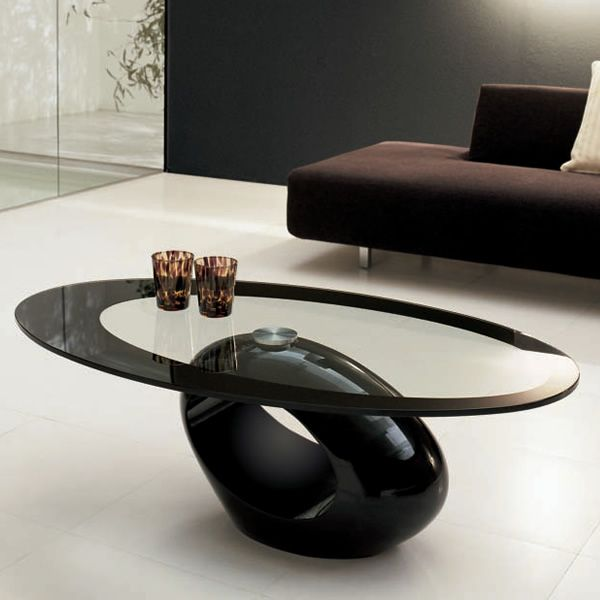 Dubai 6608: Tonin Casa coffee table made of agglomerated marble with glass top, different