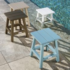 Maiorca SG - Aluminium stool, seat's height 44 cm, for garden, available in several colours