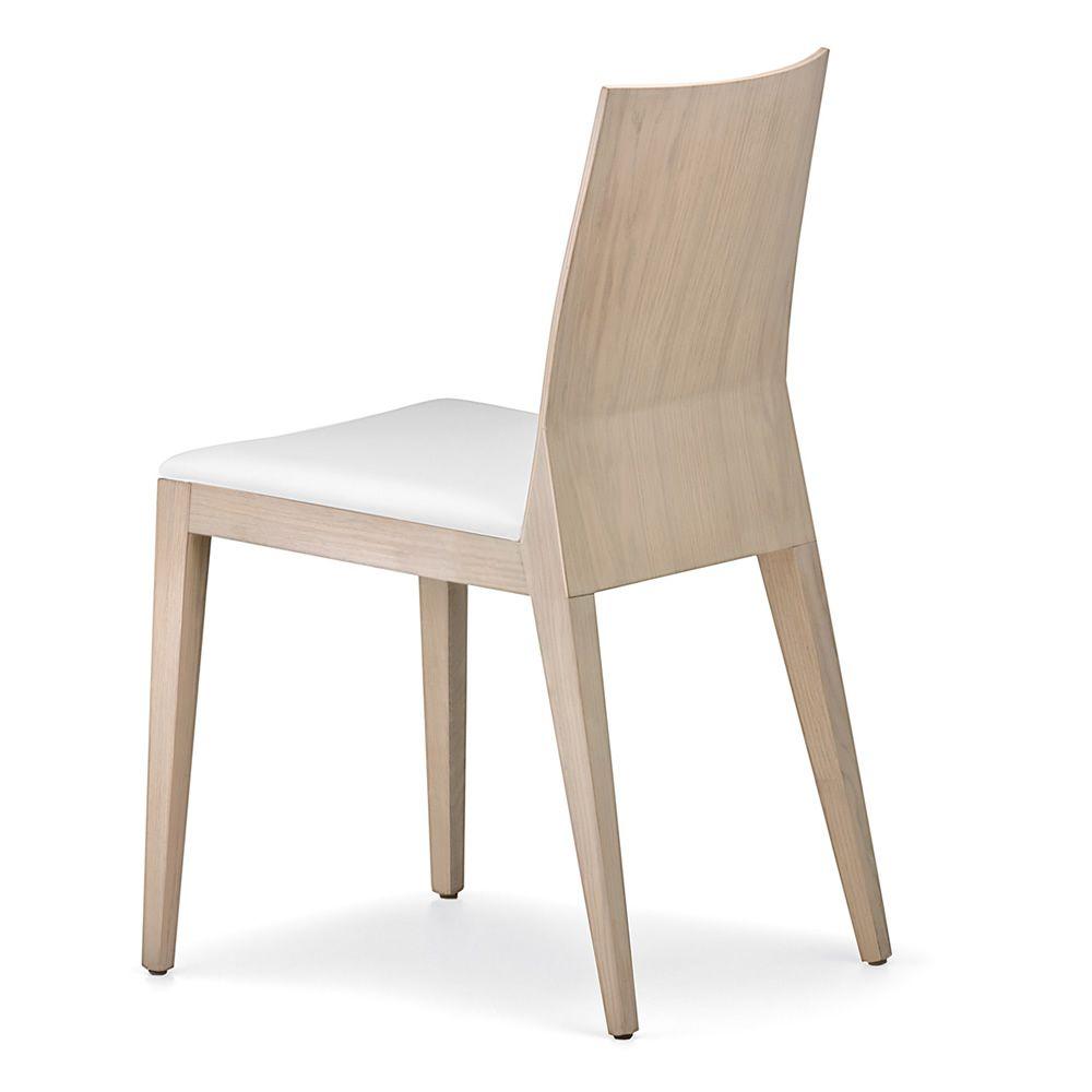 Twig 429 sedia pedrali in legno di rovere con seduta for Sedia design bianca