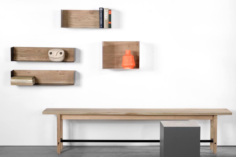 U mensola a parete universo positivo in legno e metallo - Colori da parete ...