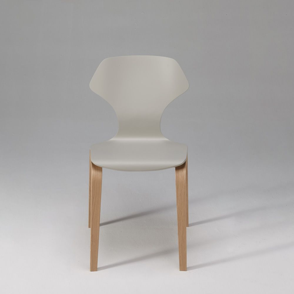 Ginger Designed chair in plywood veneered in oak  : ginger design chair in light grey lacquered version from www.sediarreda.com size 1000 x 1000 jpeg 30kB
