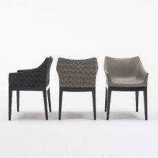 Madame - Kartell design armchair, in polycarbonate with padded seat, available with different coverings