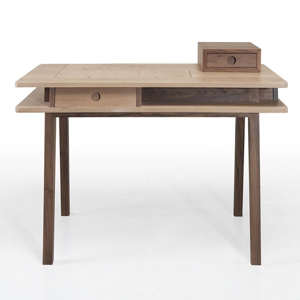 Lei tavolo multifunzionale in legno con contenitore e for Scrivania design outlet