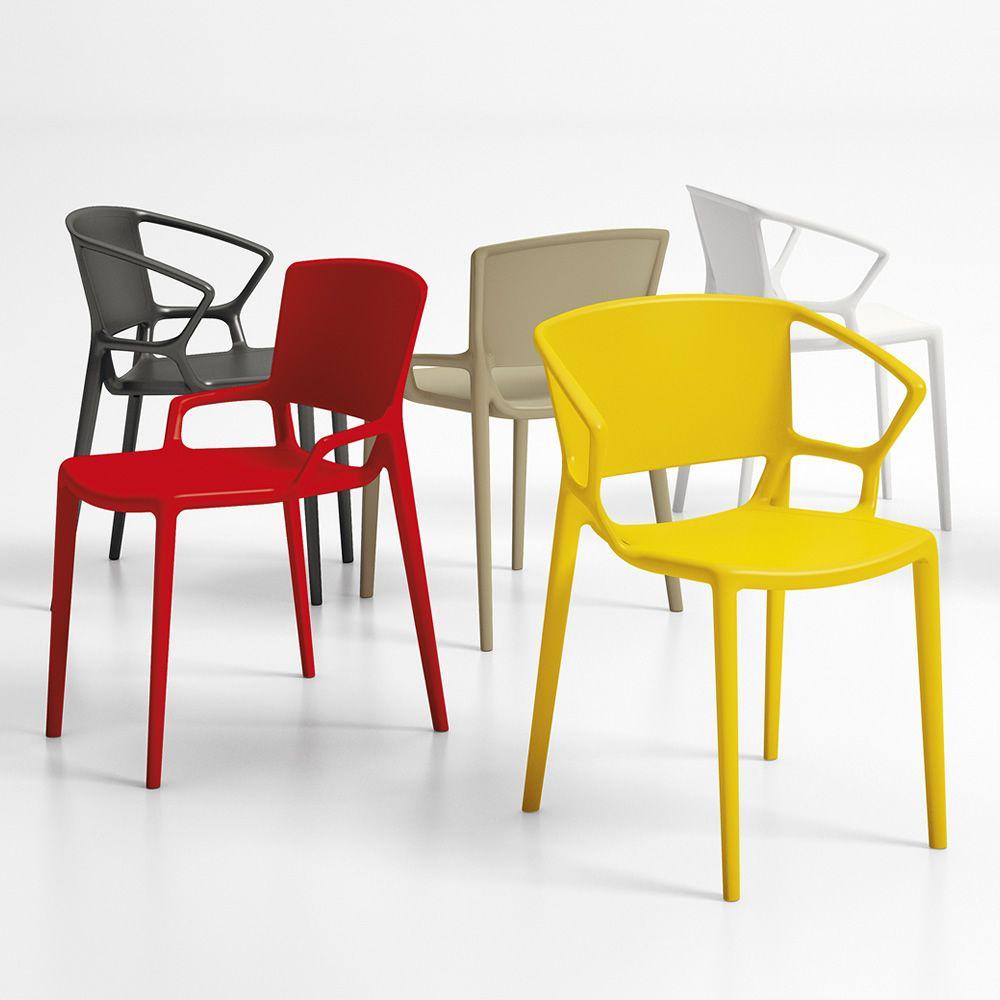 Fiorellina para bare y restaurantes silla apilable de for Table exterieur de couleur