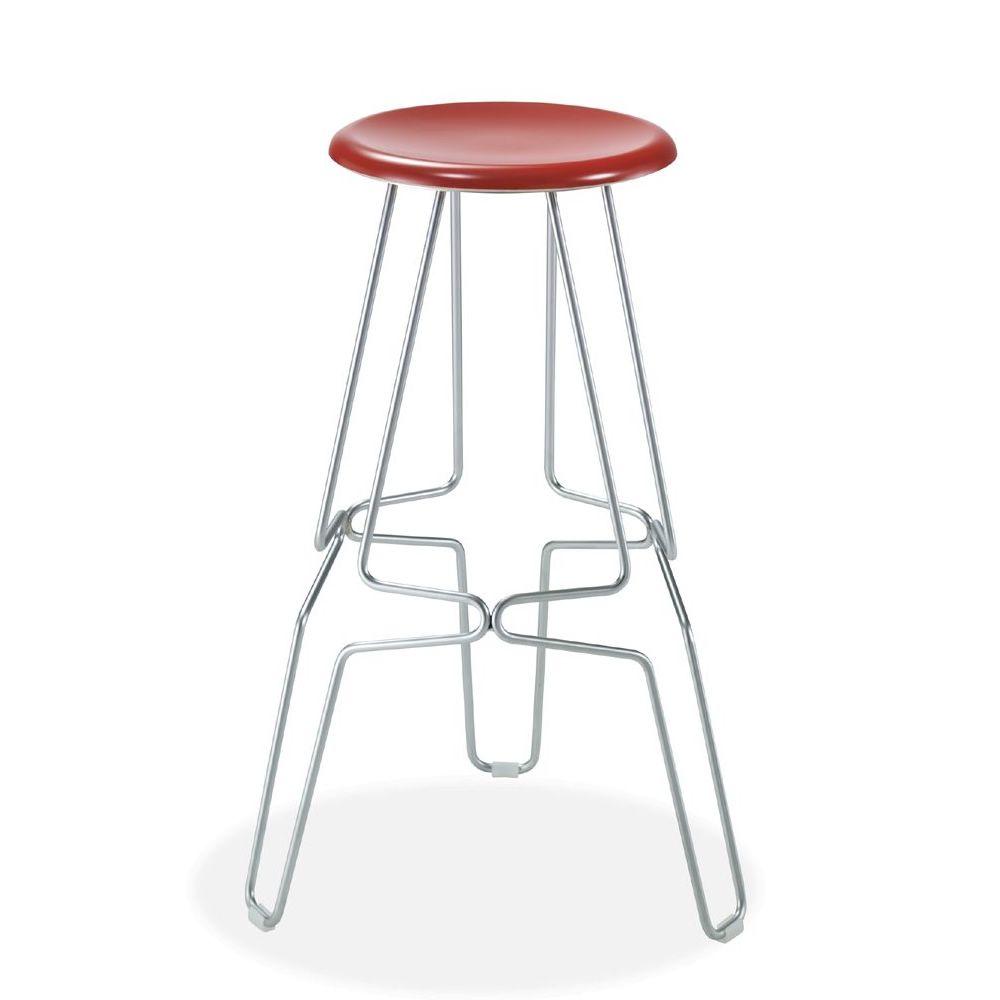 Ceppo taburete fijo de metal asiento de werzalit altura - Asientos para taburetes ...
