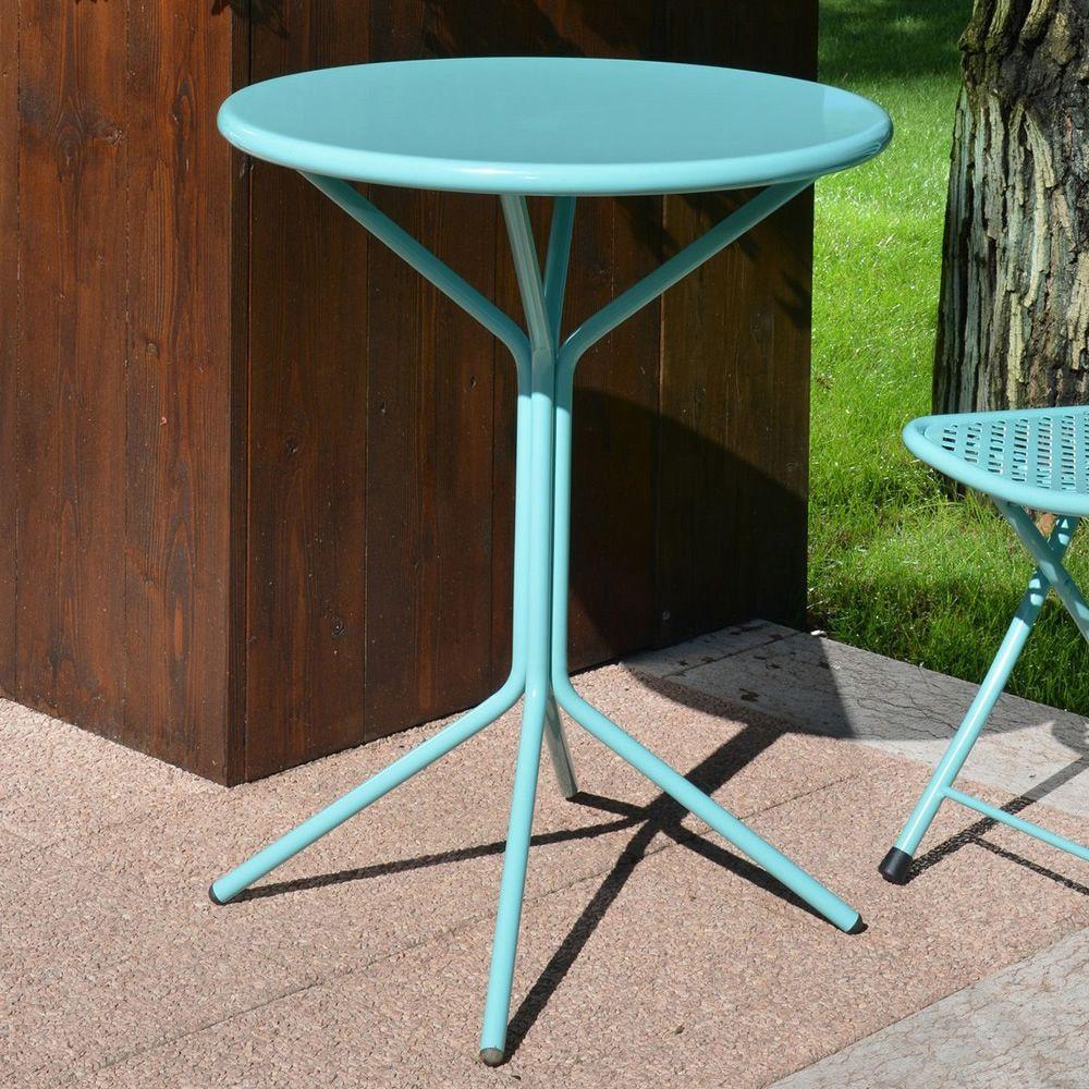 Rig83 per bar e ristoranti tavolo rotondo in metallo for Tavolo rotondo esterno