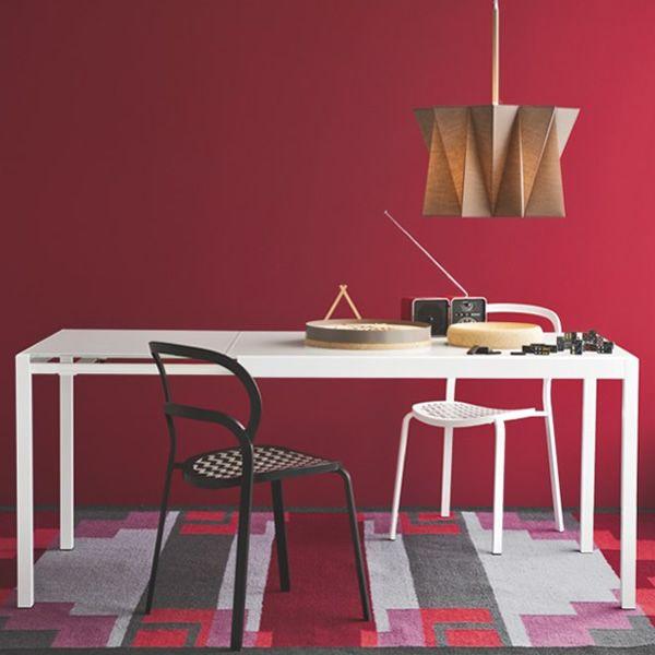 Cs4066 vr happy tavolo calligaris in alluminio piano vetro allungabile disponibile in - Tavolo vetro allungabile calligaris ...