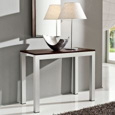 PA500 - Aluminum table-console with 46.5x100 cm top in several finishes, extendable