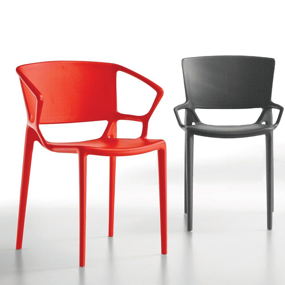 Fiorellina chaise empilable infiniti en polypropyl ne for Table de jardin rouge