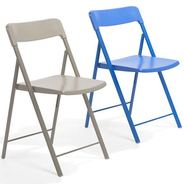 zeta chaise pliante en m tal avec assise et dossier en polypropyl ne sediarreda. Black Bedroom Furniture Sets. Home Design Ideas