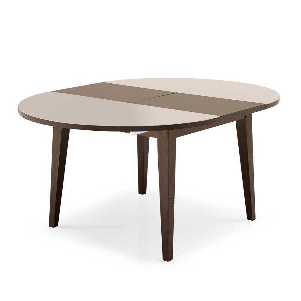 4717 w tavolo in legno con piano in vetro allungabile - Piano tavolo vetro ...