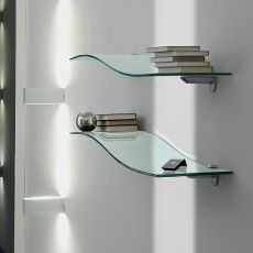 5026 - Tonin Casa shelf made of bent glass, different colours available