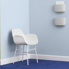 Form-P - Normann Copenhagen metal armchair, polypropylene seat, different colours available