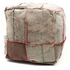 Stracci Pouf - Eco pouf design realizzato in stracci riciclati
