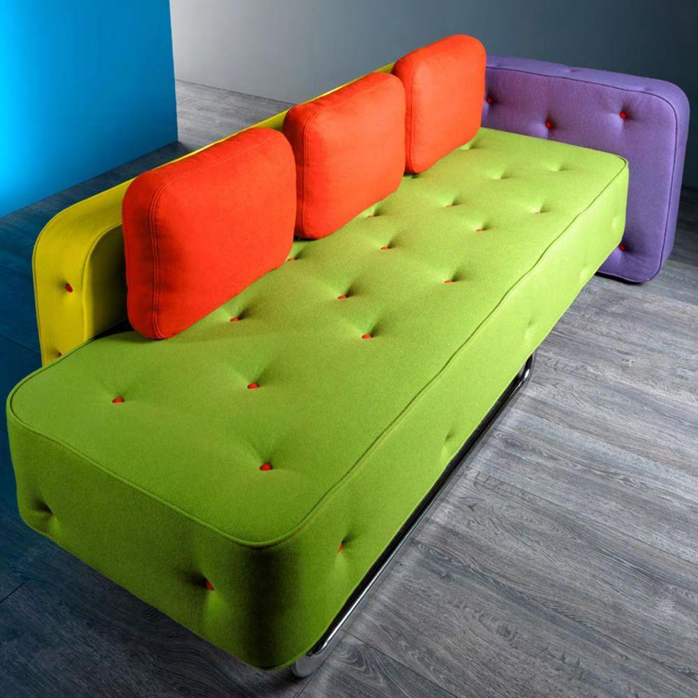 Chew divano di design adrenalina disponibile a 2 o 3 for B b divani catalogo