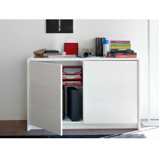 CB6031-1 Password - Connubia - Calligaris sideboard made of lacquered wood, two doors, 125 x 52 cm