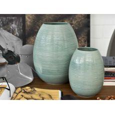 7106 Leslie - Vaso Calligaris in ceramica color verde salvia, due misure disponibili