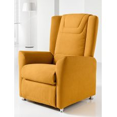Day-Relax - Electric Global Relax armchair in fabric, leather or artificial leather, reclining